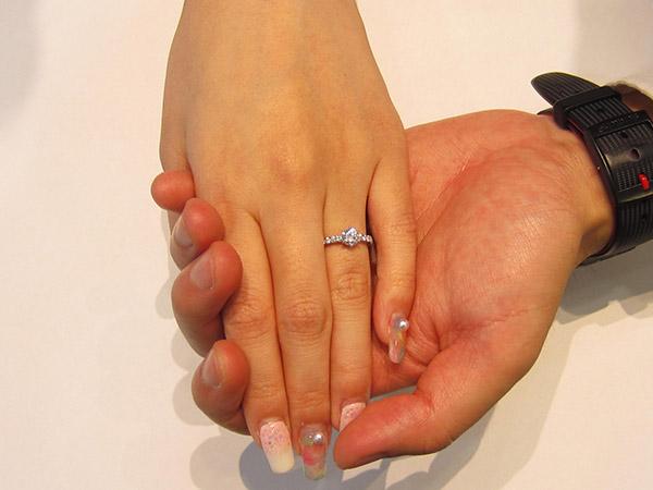 お客様の声「リフォームで婚約指輪」