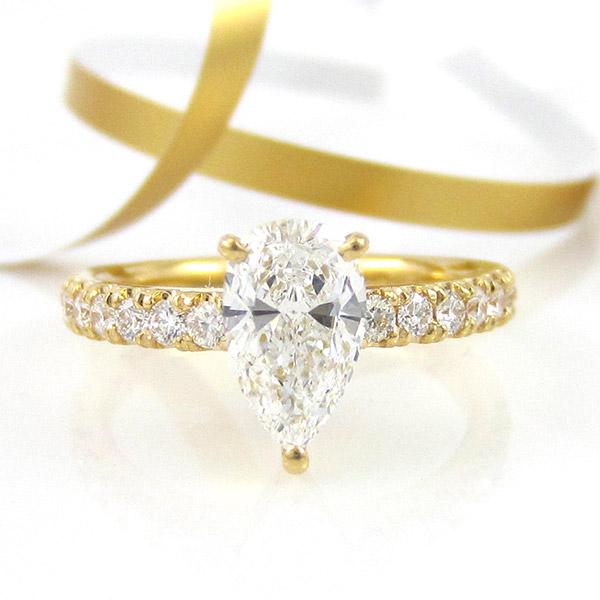 お客様の声「婚約指輪のオーダーメイド」西川様ご夫妻