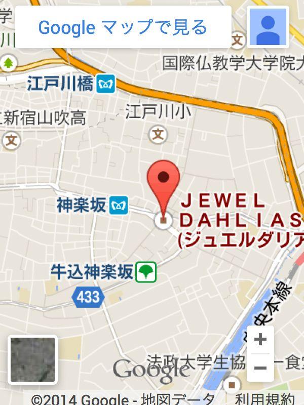 ジュエルダリアスへの地図をgoogleマップで見る