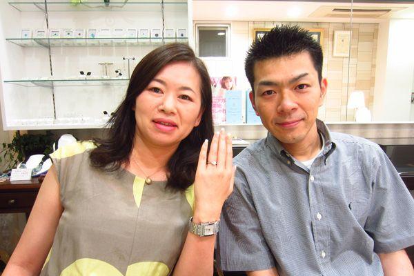 お客様の声《ダリアスの結婚指輪》佐藤亮様・眞子様